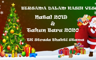 Perayaan Natal dan Tahun Baru 2020 di TK Strada Bhakti Utama ho…ho…ho…